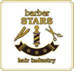 barber STARS hair industryロゴ